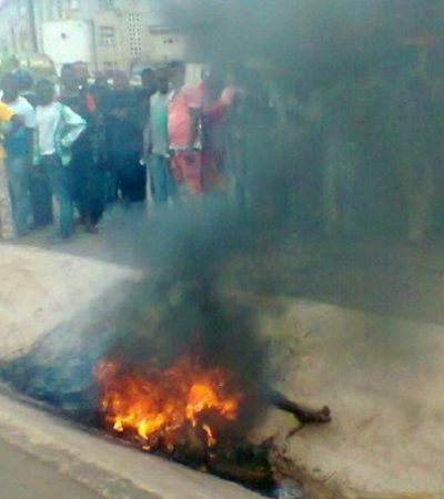 Two Armed Robbers Set Ablaze In Anambra