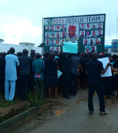 Imo Speaker Escapes Lynching As Workers, Pensioners Besiege Assembly To Stop Planned Privatization Of Parastatals