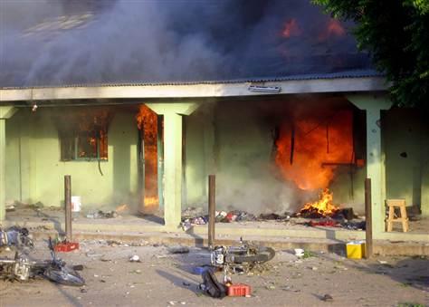 Bayelsa Polls: APC Youths Set 5 Buildings Ablaze