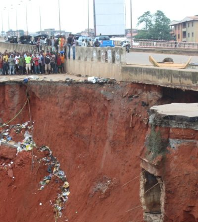 Obiano Cries Out To FG To Save Anambra Roads From Erosion Menace