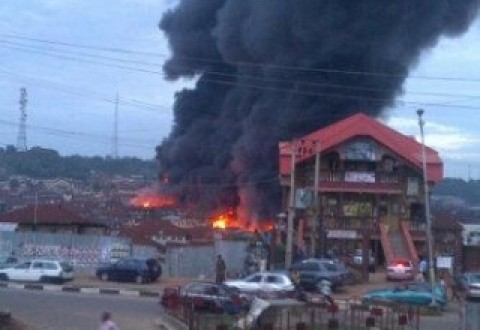Jos Market Goes Up In Flames, Destroys 118 Shops, Goods