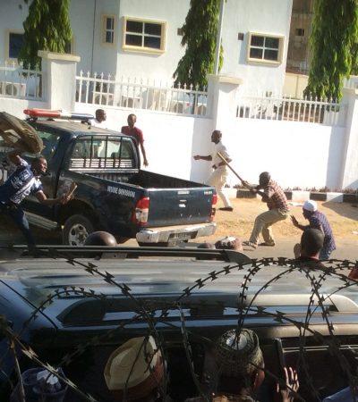 Kogi: How Pro Falake And Pro Yahaya Bello Thugs Clash At APC National Secretariat Today