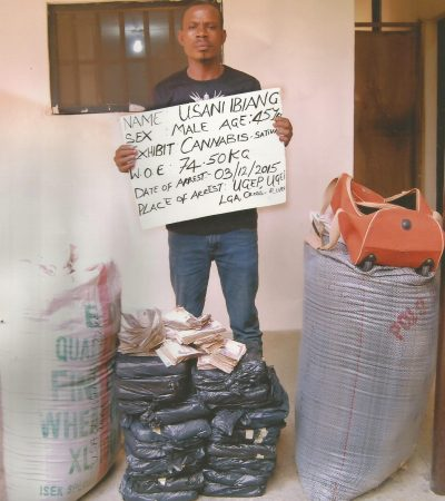 NDLEA Arrests Rice Farmer With 74.5kgs Cannabis
