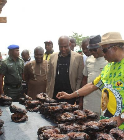 Encounter with Governor Obiano Thrills Fish Seller