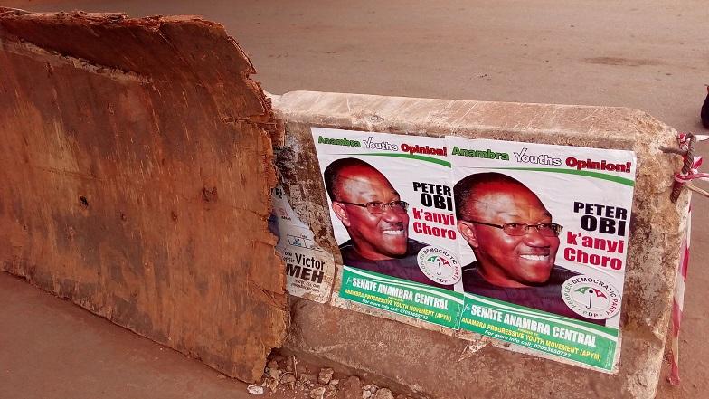 Anambra Rerun: Peter Obi's Posters Flood Awka