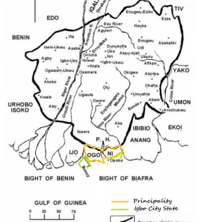 Map of New Biafra –By Osita Ebiem