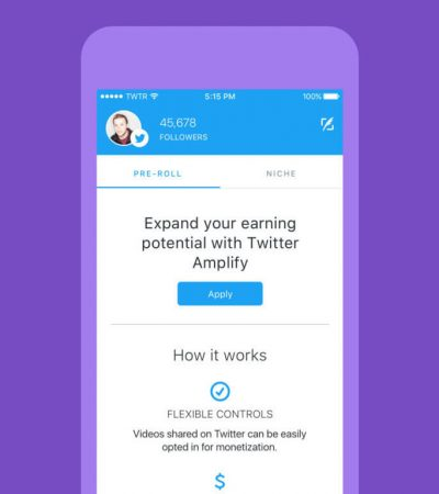 Twitter is now letting select users put pre-roll adverts on their videos