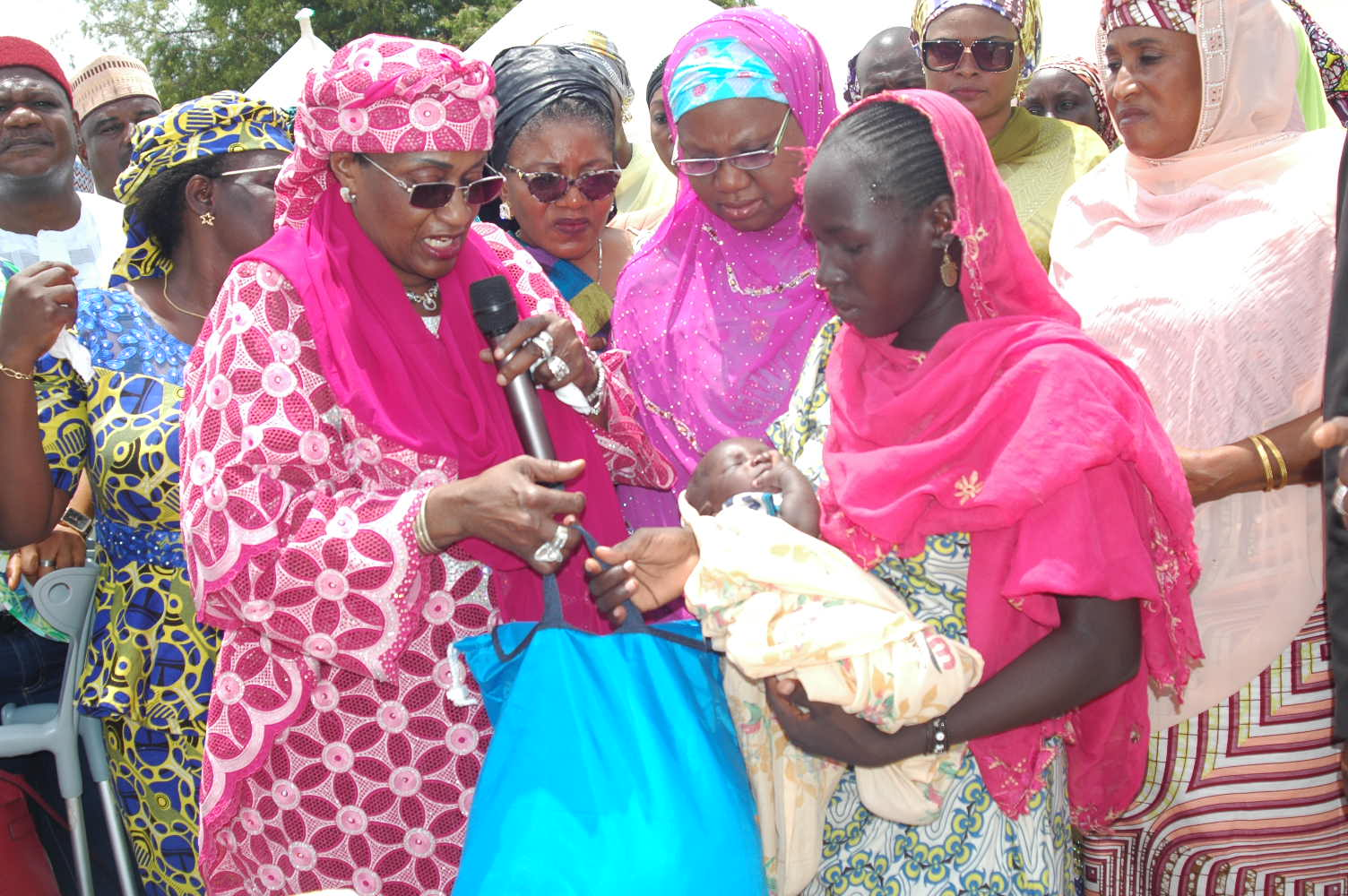 Minister Of Women Affairs Visit To Fufore IDP Camp In…