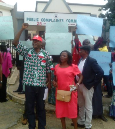 Unpaid Salary Arrears: Workers Shut Public Complaint Commission, Embark On Indefinite Strike