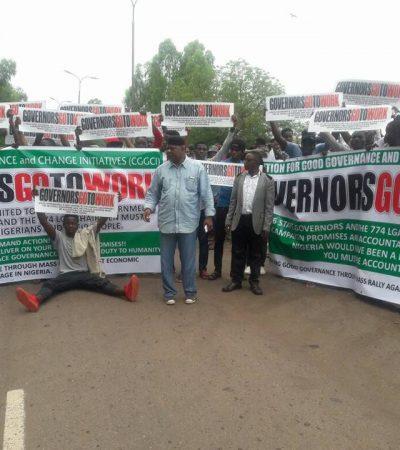 #GovernorsGoToWork Campaign Storm Enugu, Demand Accountability From Govs