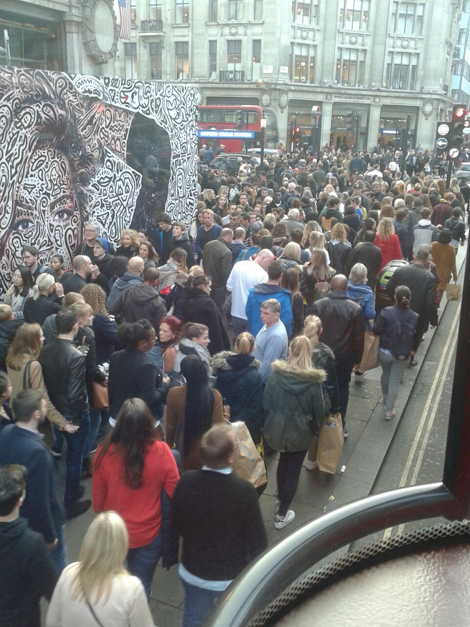 Shopping on Oxford street  London in October this year.