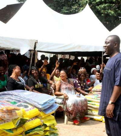 Christmas: Ekweremadu Urges Love, as Wife Showers Gifts on 250 Widows