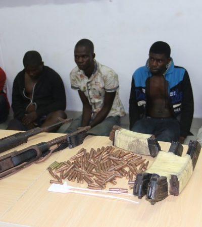 Parade Of Suspects Aftermath Of Rivers State Parliamentary Re-Run Elections Held On 10th December 2016: Arrest Of Five Suspects, Recovery Of INEC Materials, Arms And Ammunition