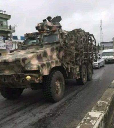 Army Begins Operation Show Of Force In Aba