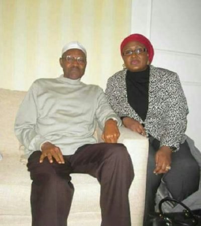 Another Photo Of Buhari In London, This Time With Wife