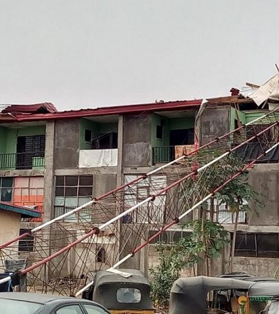 Rainstorm Destroy Police Communication Equipment, Staff Quarters In Aba