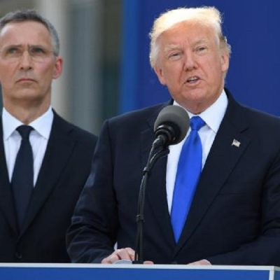Trump Uses NATO Unity Ceremony To Bash European Allies On Military Spending
