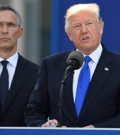 Trump Uses NATO Unity Ceremony To Bash European Allies On Military Spending