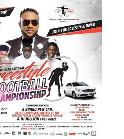 Ikeja City Mall hosts Maiden Edition of Nigerian National Freestyle Football Championship on Sunday