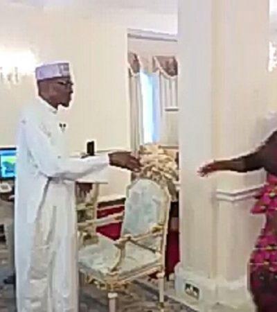 [Video] Buhari Meets Media Team
