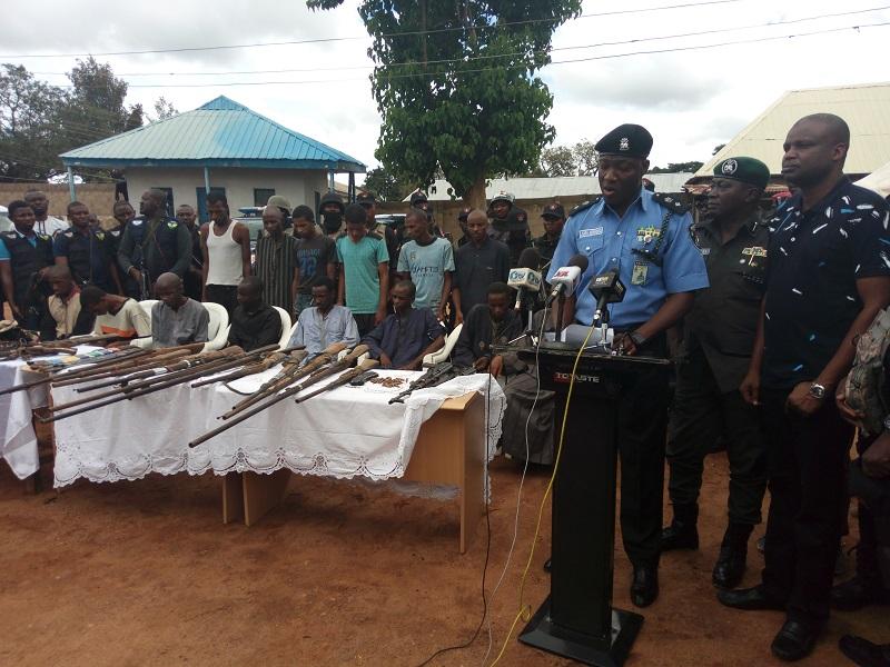 Police Parade 13 Abuja/Kaduna Highway Kidnappers