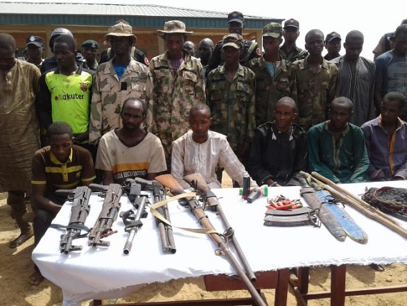 Parade Of Suspected Kidnappers On Abuja – Kaduna Highway