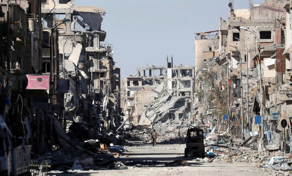 Raqqa: US coalition 'wiped city off Earth', Russia says