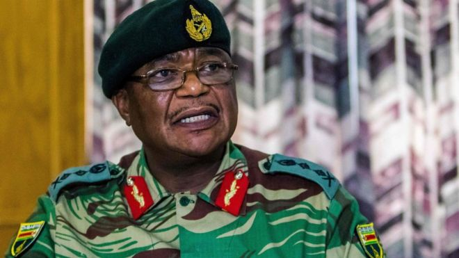 Zimbabwe military chief Chiwenga in Zanu-PF purge warning