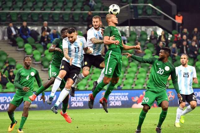 Super Eagles get first game taste of official 2018 World Cup ball