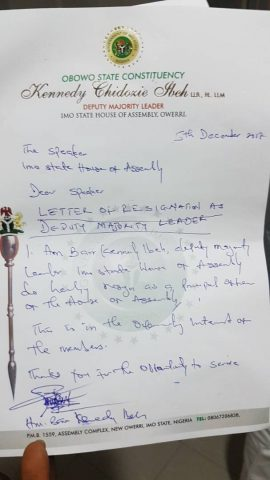 Rumbles In Imo State House Of Assembly