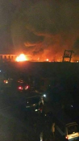 New Market Owerri On Fire Hours After Gov Okorocha's Foiled Attempt To Demolish It
