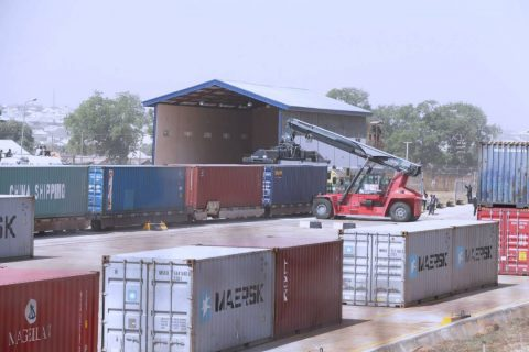 Images From Buhari's Commissioning Of Kaduna Inland Port