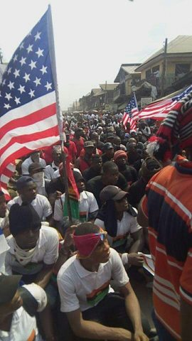 IPOB Holds Rally In Remembrance Of Biafrans Murdered By Nigeria Forces