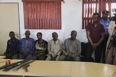 Police Parades 5 Kidnappers, One Fake Police Officer