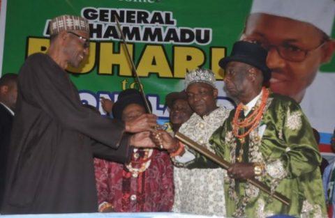 President Buhari Congratulates Enyi Of Aba, Eze Ikonne At 89