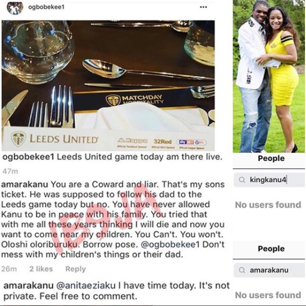 Kanu's family crisis deepens as wife unfollows legend on IG - FCNaija