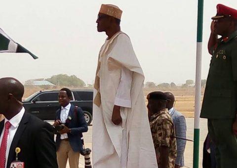 A Sickly Looking Buhari Gives Corruption Speech In Adamawa