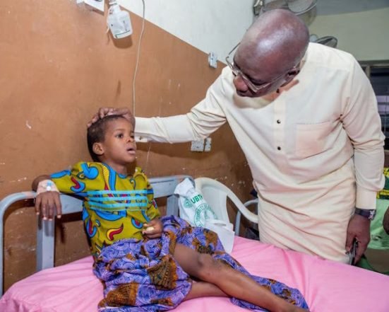 Gov's Press Crew Accident: 5-Yr-Old Victim Gets Lucky, As Obaseki Picks Bill Of His Cancer Treatment