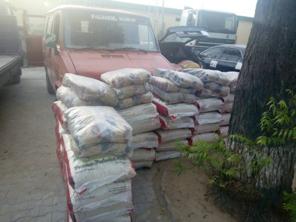 Customs Intercept 300 Bags Of Smuggled Rice, Vehicles In Kano