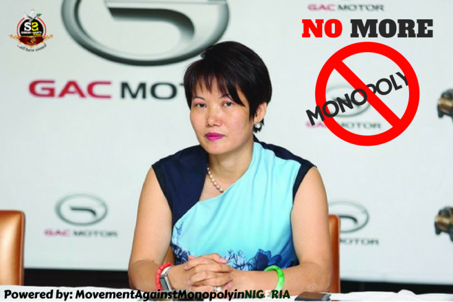 Who Will Stop The Chinese Tyrant Diana Chen From Killing Nigerians With Her Expensive GAC Motors That Nigerian Importers Can Import Cheaply? – By Fejiro Oliver