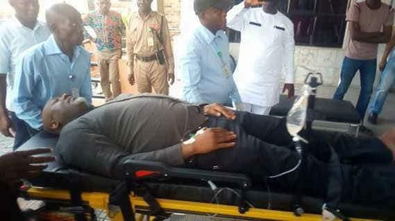 Police Handcuff Dino Melaye To Hospital Bed, Prevent Senators From Seeing Him