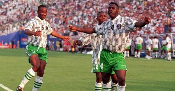 FIFA shortlists Amokachi's goal for favourite World Cup goal award