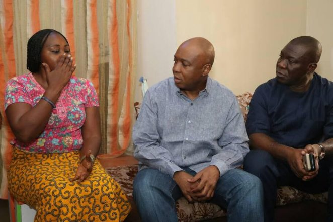 Images From Saraki Visits Home Of Female National Assembly Staff Assaulted By Thugs