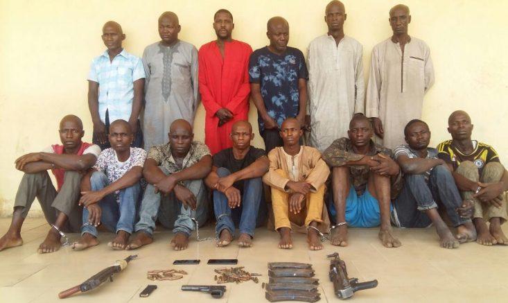 Police Parade 14 Suspected Killers Operating Along Kaduna/Kano Highway
