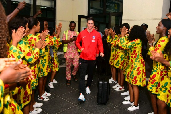 Atletico Madrid Arrive For Friendly Vs Super Eagles B