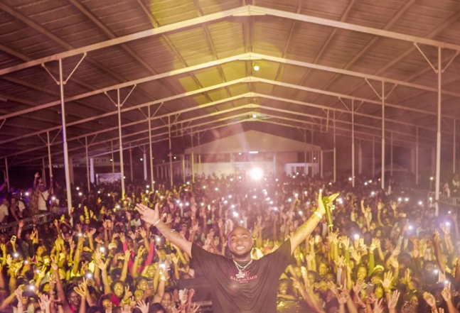 How Davido performed to crowd of 10,000 fans in unknown South American country, Suriname