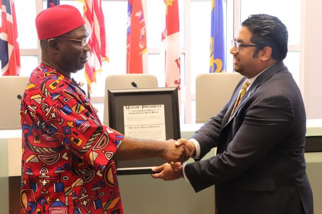 Ekweremadu Appointed Honorary Mayor, City Of Baton Rouge, US