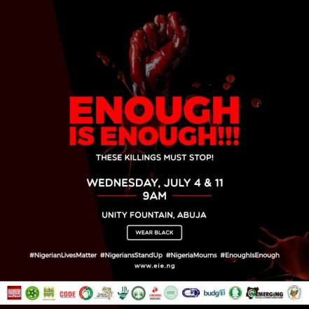 Nigeria Mourns And Cries For Peace, Justice & Security