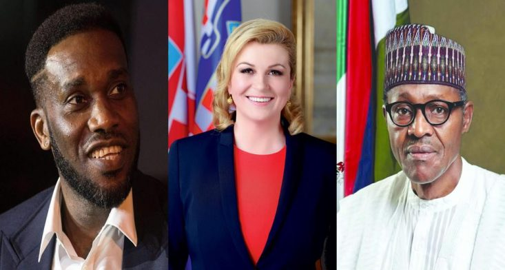 Okocha Slams Pres. Buhari After Being Asked A Question About The Beautiful Croatian President
