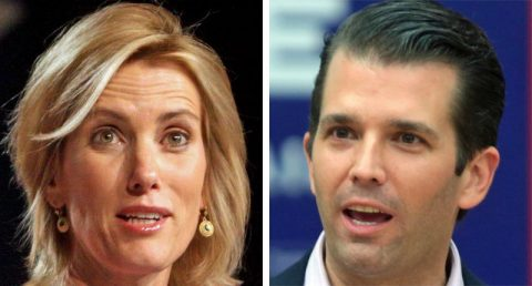 Trump Jr suddenly goes silent as Laura Ingraham questions him about Trump Tower meeting with Russians